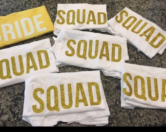 Bachelorette Party - Bride Squad Shirts
