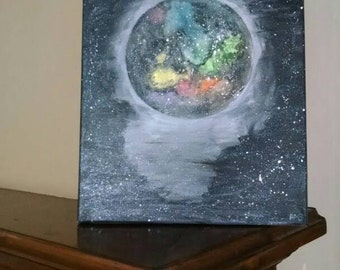 Galaxy in space painting