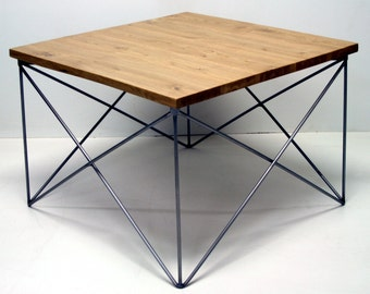 X Coffee Table / steel and old oak / simple design / industrial steel / all by Nortre