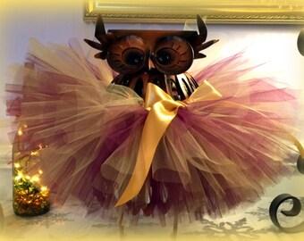 Toddler Tutu, Baby Tutu, Infant Tutu, Tutu Skirt, Newborn Tutu, Thanksgiving Tutu, Purple and Gold Tutu, New Year's Eve Tutu, Christmas Tutu