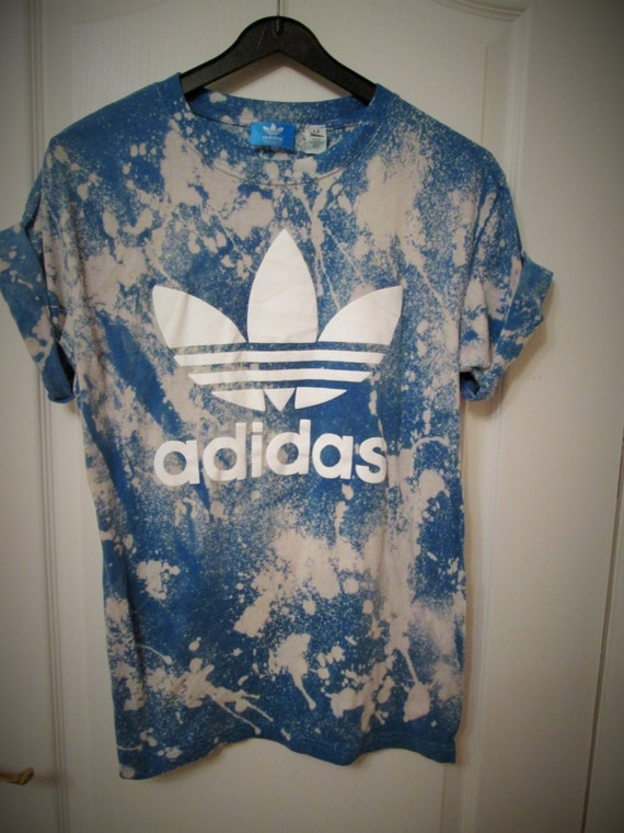 Vintage acid wash tie dye adidas originals retro rave festival for How to wash tie dye shirt after dying
