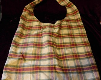 Genuine Boho Handbag Handmade Never Used Plaid Linen Casual Everyday Use Excellent