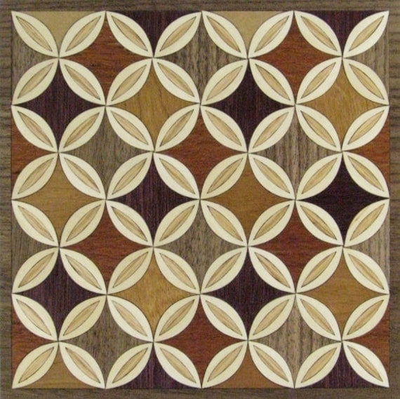 "8""x 8"" Marquetry Project Kit - Quilt 1"