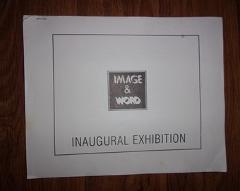 "Autographed 1989 Sculptor BURTON BLISTEIN ""Image & Word"" Exhibition Catalog"