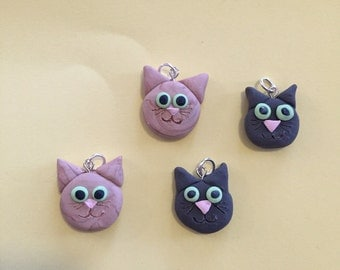 Kitty cat necklace charm