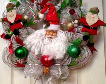 Santa Wreath, Christmas Wreath