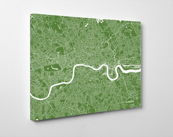 London Street Map Print Map of London City Street Map England Poster Wall Art 7104L