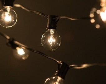 outdoor string lights Etsy