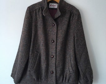 Vintage 1980's Westbrook M. Liman women's tweed coat