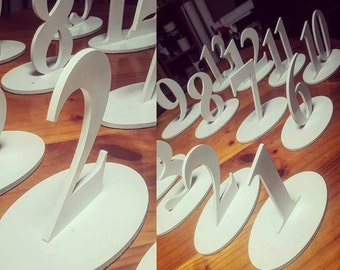 Table Numbers for wedding or event