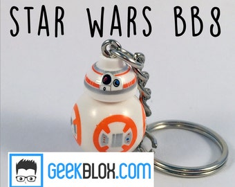 Lego Star Wars BB8 Keyring Keychain Cute Droid Robot