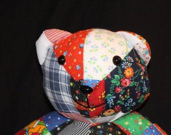 Handmade Teddy Bear Patchwork