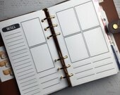 Undated Personal Size Printable Planner Inserts | Week on 4 pages