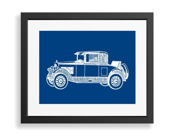 Antique Car Print, Car Art Print, Vintage Car Decor, Automobile Art, Man Cave Decor, Boys Nursery Wall Decor, Gift for Men, Apartment Decor