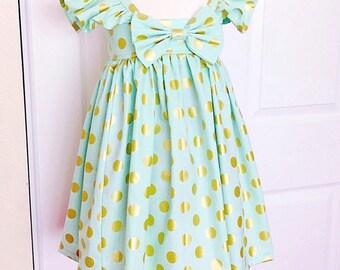 FLUFFY SLEEVE!!! Girls Heirloom Dress ! Please Read the Size Detail !!