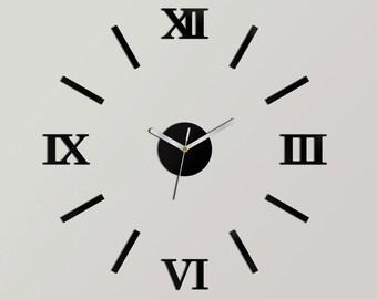 "Clock Wall Clock  modern wall clock large wall clock 19,70"" wall decoration clocks DIY"