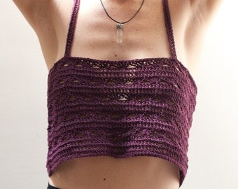 Purple crochet singlet