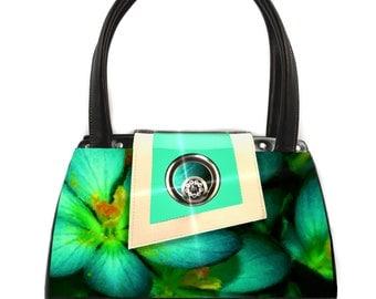 Teal Petals Classic Handbag
