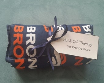 ON SALE Hot & Cold Therapy Rice Pack - team BRONCOS pattern
