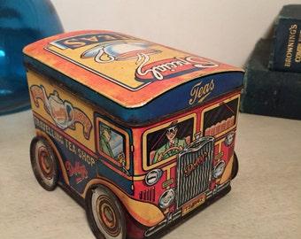 Vintage Dollys Tea Van Tin 1980s