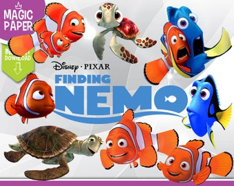 Finding Nemo Clipart - Disney Digital 300 DPI PNG Images, Photos, Scrapbook, Digital, Cliparts - Instant Download