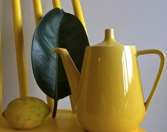 yellow vintage teapot