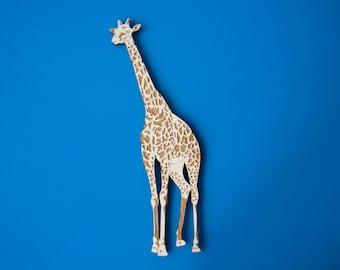 Giraffe Fridge Magnet - Keeper Gift - Handmade Wooden Art - Safari Home Decor - Kids Animal Magnets