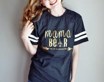 Mama Bear Jersey, Mama Bear Shirt, Mama Bear Tee, Vinyl Tshirt, Mothers Day Gift