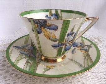 Royal Doulton Tea Cup and Saucer, Iris