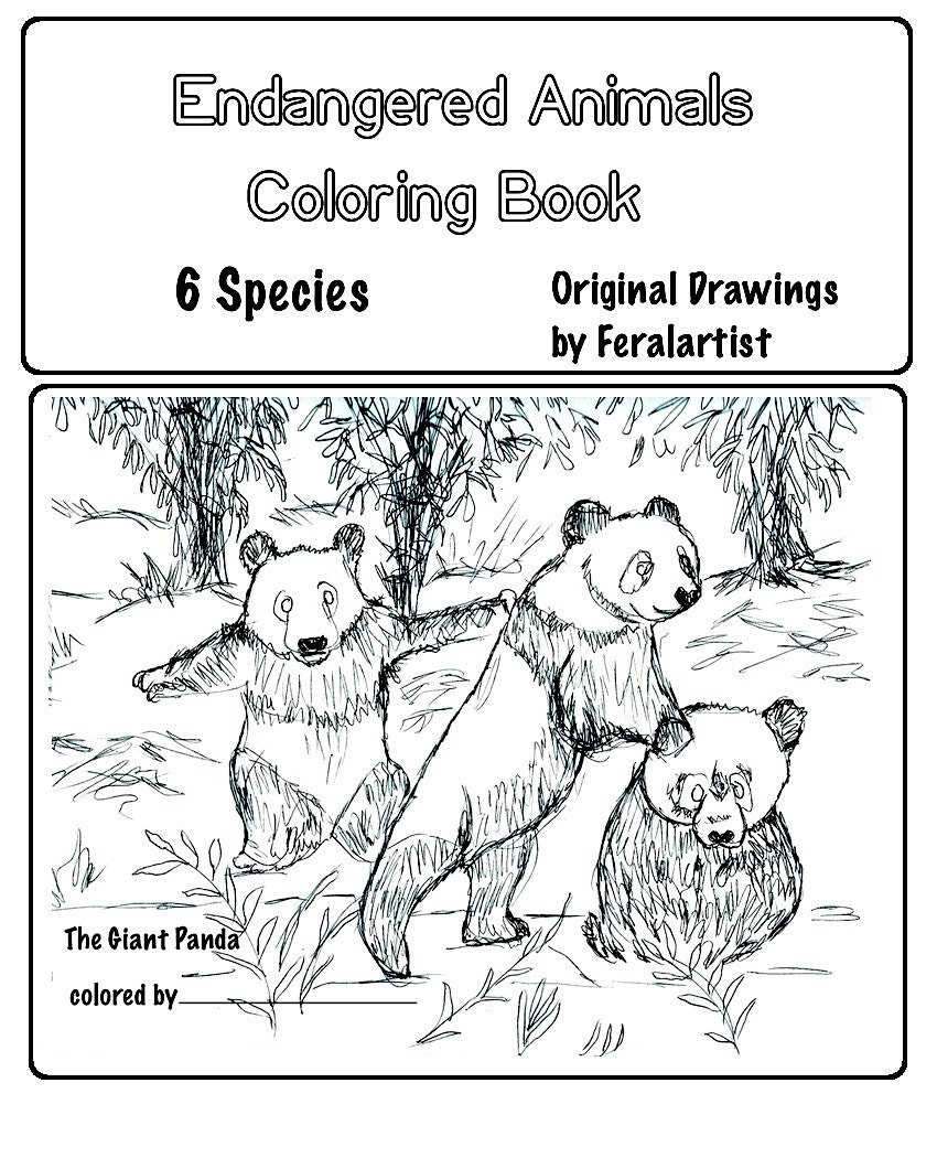 Coloring book endangered animals coloring book 6 by for Endangered species coloring pages