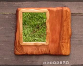 Rustic unique mirrors and home decor Pear wood Wooden mirror Live edge mirror art Rustic Designs