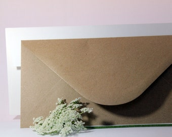 Wedding invitations envelopes-Kraft Envelope-white envelope marked in felt-customized with Monogram or addresses