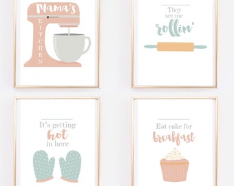 Funny Bakers Pastel Print Collection