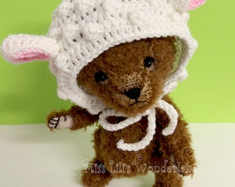 "Artist Bear ""Lili""-6.3"" Teddy bear OOAK"