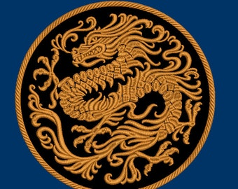 Chinese dragon Machine embroidery design instant download