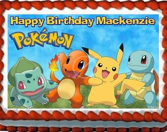 Pokemon Edible Cake Topper Decoration