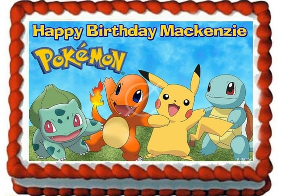 Pokemon Birthday Edible Cake Images | Birthday Wikii