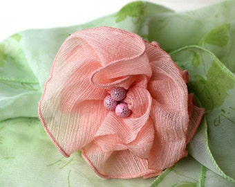 "OOAK Brooch ""Apricot tenderness"""