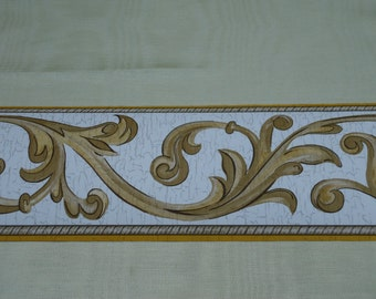 Vintage Wallpaper Border, Classic Architectural Design 4 inch by 5 yard
