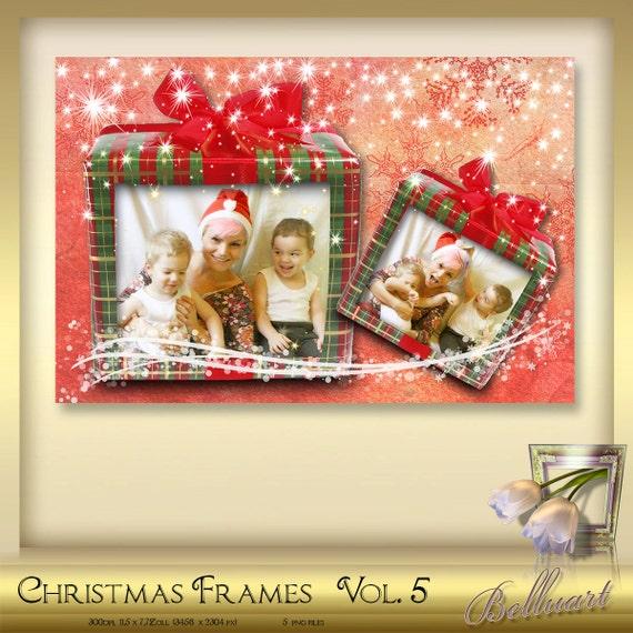 5 Christmas Photoshop Frames Vol. 5
