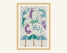 raining cats and dogs cross stitch pattern