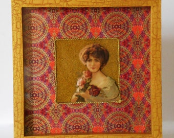 Wall hanging 3D - Lady Rose
