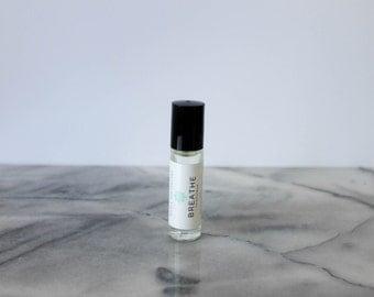 Breathe Essential Oil Blend: congestion essential oil, breathe aromatherapy, eucalyptus essential oil, natural vapor rub, congestion relief