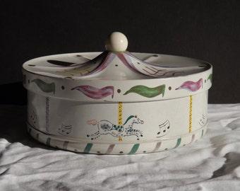 Vintage Guildcraft Carousel Tin