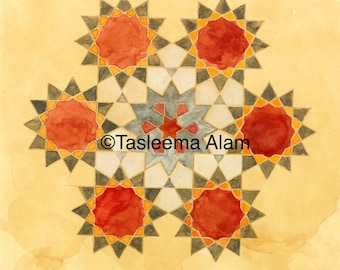 Postcard Flower of Life or Ether