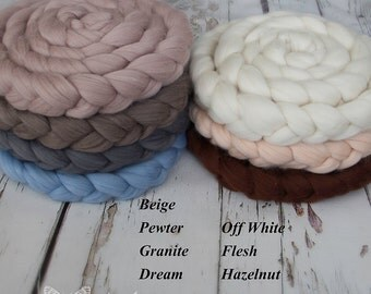 Soft Merino Wool Braid - Newborn Photography / Photo Prop 280cm / 110inches