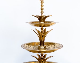 Large Pineapple Three Tier Serving Tray