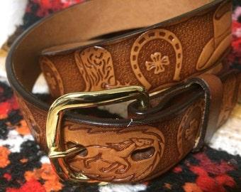 Sz 28 genuine leather cowboy western belt