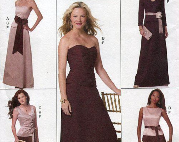 FREE US SHIP Butterick 5419 Lifestlye Wardrobe Prom Floor Evening length Dress Gown Top Skirt New Sewing Pattern Size 16 18 20 22 24