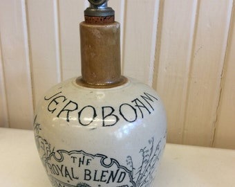 Jeroboam whiskey stoneware decanter